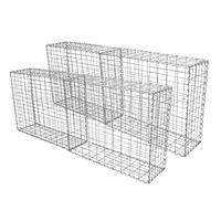 4 Cestas De Acero Galvanizado De Exterior Jaulas Para Decoración 100 X