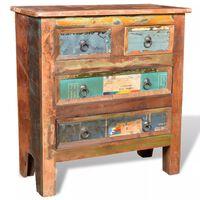 vidaXL Mueble aparador de madera maciza reciclada con 4 cajones