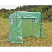 HI Invernadero verde 200x77x169/148 cm