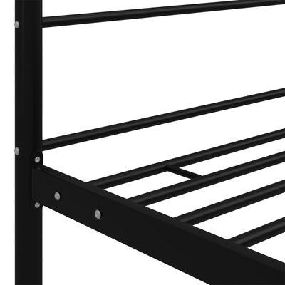 vidaXL Estructura de cama con dosel metal negro 140x200 cm