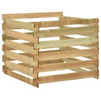vidaXL Compostador de listones madera pino impregnada 100x100x80 cm