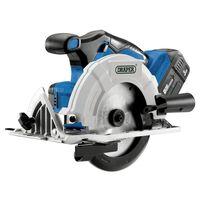 Draper Tools Sierra circular sin escobillas con batería D20 3Ah 20V