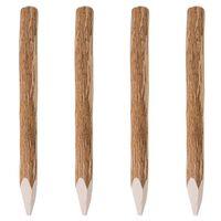 vidaXL Postes de valla puntiagudos 4 uds madera de avellano 90 cm