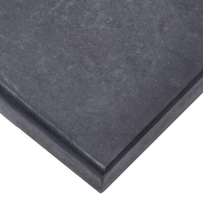vidaXL Base de sombrilla granito negra 40x28x4 cm