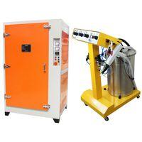 Máquina De Pintura En Polvo Electrostática 45 Litros Y Horno De Curado