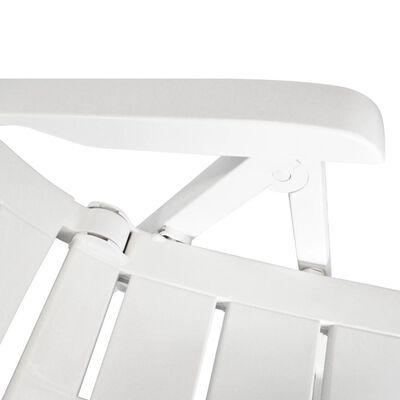vidaXL Juego de comedor de jardín 9 piezas plástico blanco