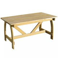 vidaXL Mesa de jardín de madera de pino impregnada 150x74x75 cm