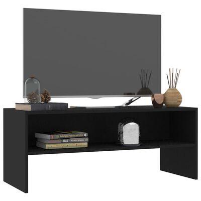 vidaXL Mueble para TV aglomerado negro 100x40x40 cm