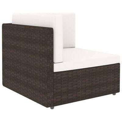 vidaXL Juego de muebles de jardín 4 piezas ratán sintético marrón