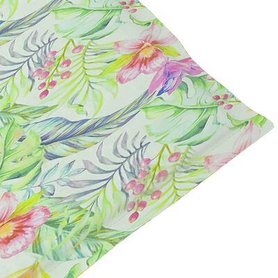 vidaXL Cojín para tumbona estampado de hojas (75+105)x50x4 cm