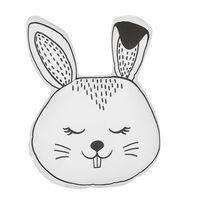 Cojín decorativo conejo blanco/negro 53x45 cm KANPUR