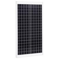 vidaXL Panel solar policristalino aluminio y vidrio de seguridad 30 W
