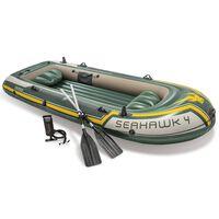 Intex Barca inflable con remos y bomba Seahawk 4 68351NP