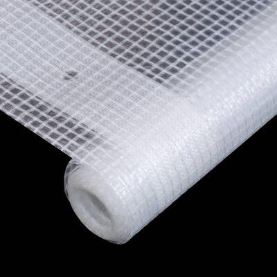 vidaXL Lona impermeable 260 g/m² 2x4 m blanca