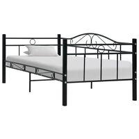 vidaXL Estructura de cama de metal negro 90x200 cm