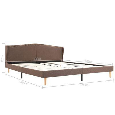 vidaXL Cama con colchón tela marrón 180x200 cm