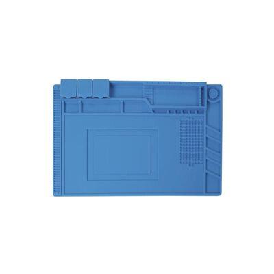 Velleman Estera de soldadura silicona azul 45x30 cm