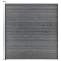 vidaXL Valla de jardín de WPC gris 175x186 cm