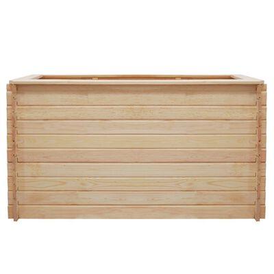 vidaXL Arriate de madera de pino 19 mm 150x100x80 cm