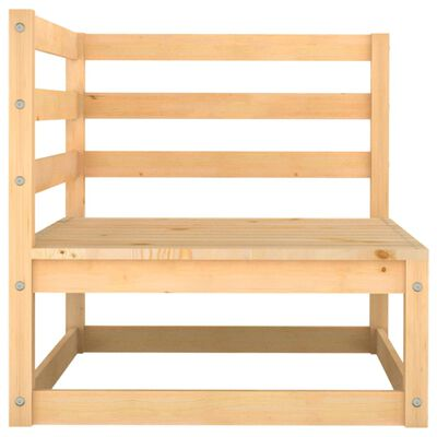 vidaXL Muebles de jardín 5 piezas madera maciza de pino