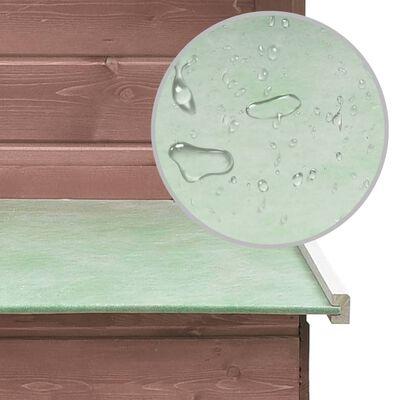 vidaXL Gallinero de madera maciza de pino y abeto moca 170x81x110 cm