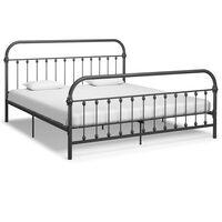 vidaXL Estructura de cama de metal gris 180x200 cm