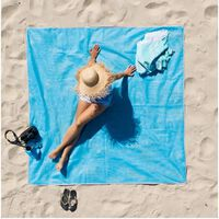 Manta de playa / picnic - 200x200 m - azul