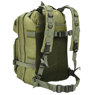 vidaXL Mochila estilo militar 50 L verde oliva