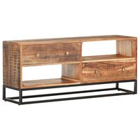 vidaXL Mueble para TV de madera maciza de acacia rugosa 120x30x50 cm