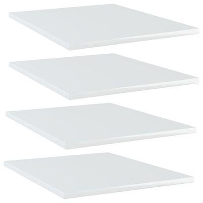vidaXL Estantes estantería 4 uds aglomerado blanco brillo 40x50x1,5 cm