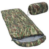 vidaXL Saco de dormir de camuflaje 10℃ 1000g