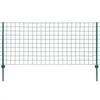 vidaXL Euro Valla de acero verde 20x0,8 m