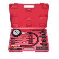 vidaXL Kit comprobador de compresión de motor de diesel 17 piezas