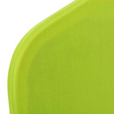 vidaXL Funda de silla elástica 4 unidades verde