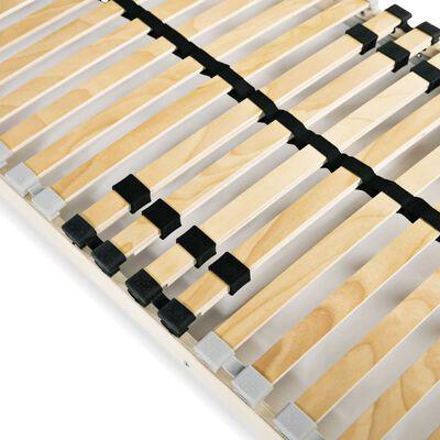 vidaXL Somier de láminas con 28 listones de 7 regiones 90x200 cm