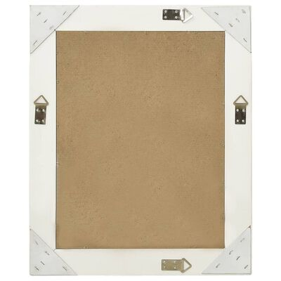 vidaXL Espejo de pared estilo barroco blanco 50x60 cm