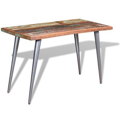 vidaXL Mesa de comedor madera maciza reciclada 120x60x76 cm