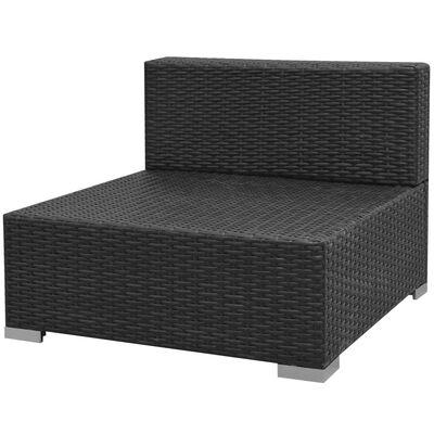 vidaXL Conjunto de sofás de jardín con dosel poliratán marrón 7 piezas