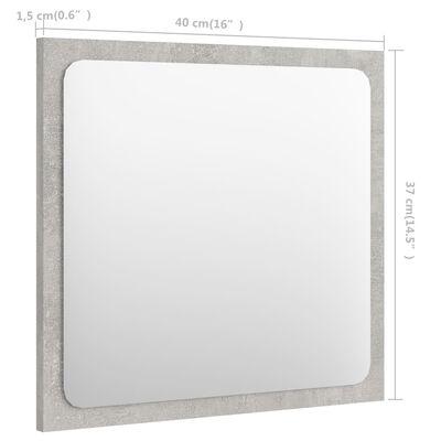 vidaXL Espejo de baño aglomerado gris hormigón 40x1,5x37 cm