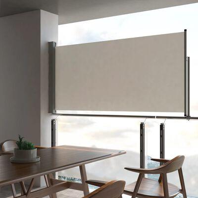 vidaXL Toldo lateral retráctil para patio 120x300 cm crema