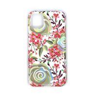 Funda móvil a prueba de golpes con soporte para iPhone 11 - Flores