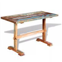 vidaXL Mesa de comedor pedestal madera maciza de acacia 120x58x78 cm