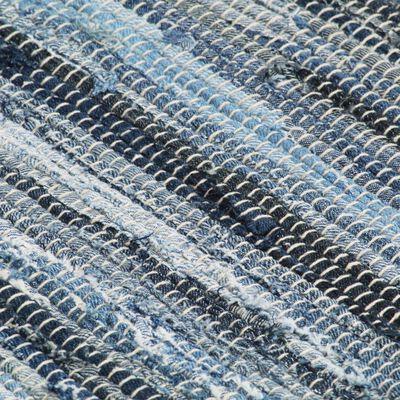 vidaXL Manteles individuales 6 uds Chindi vaquero algodón azul 30x45cm