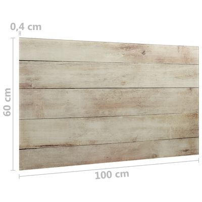 vidaXL Pizarra magnética de pared vidrio 100x60 cm
