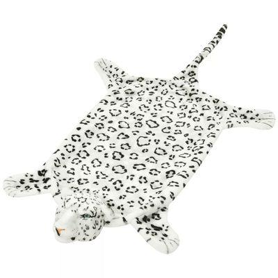 vidaXL Alfombra afelpada de leopardo 139 cm blanco