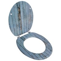 vidaXL Asiento de inodoro WC con tapa de MDF diseño de madera vieja