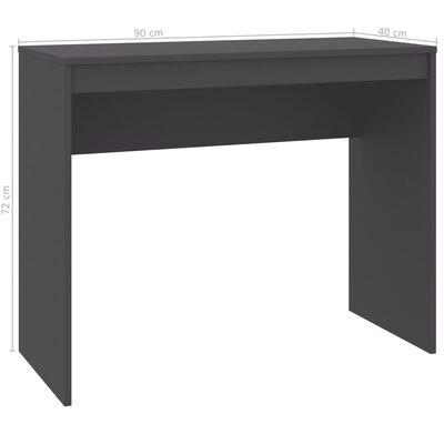 vidaXL Escritorio de aglomerado gris 90x40x72 cm