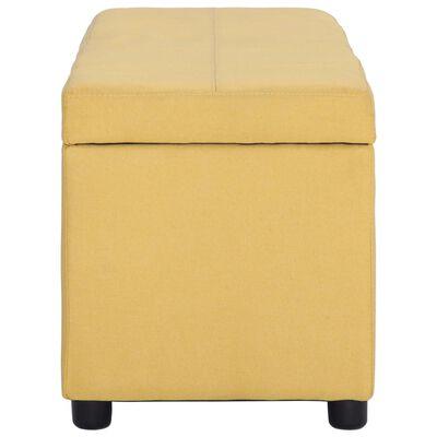 vidaXL Banco con espacio de almacenaje 116 cm poliéster amarillo