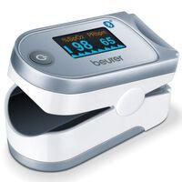 Beurer Oxímetro de pulso Bluetooth PO 60 blanco y gris
