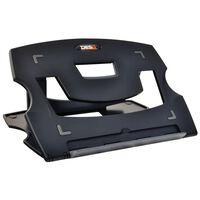 DESQ Soporte de mesa para portátil negro 28,5x21x1 cm